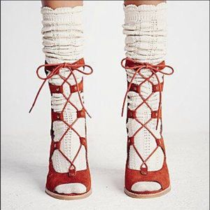 Free People Jeffrey Campbell Lace Up Heels Sz 10